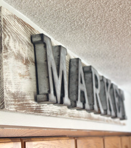 Galvanized Market Sign