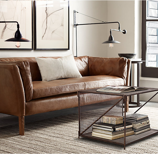 Restoration Hardware Modern: Tan Leather Sofa Round-Up