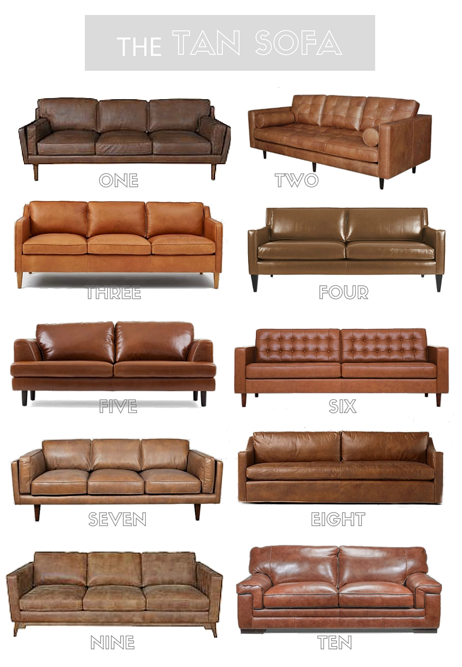 Attractive Tan Leather Sofa Round Up