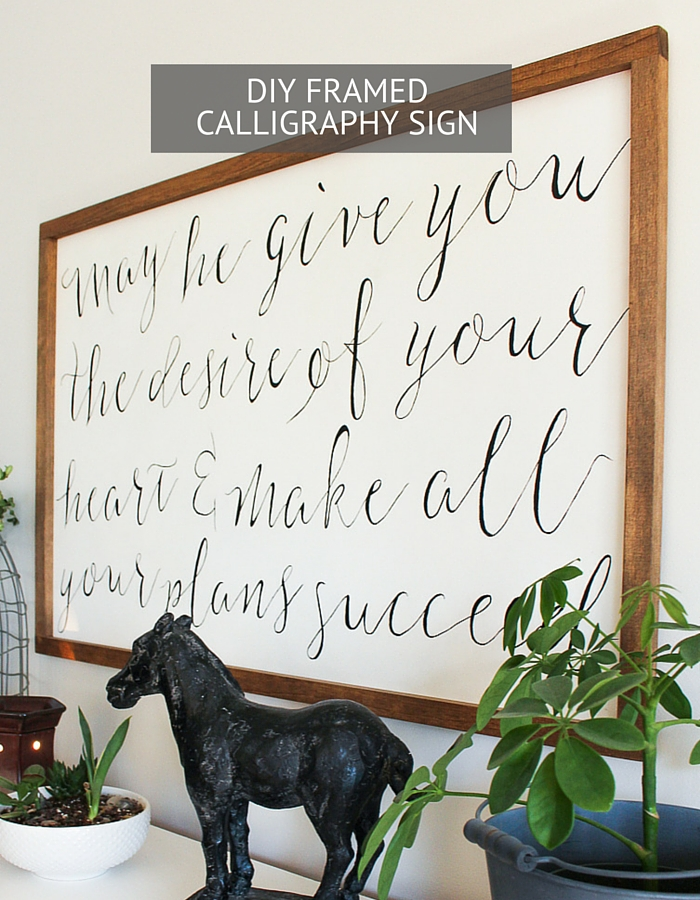 How to make a framed calligraphy sign kassandra dekoning