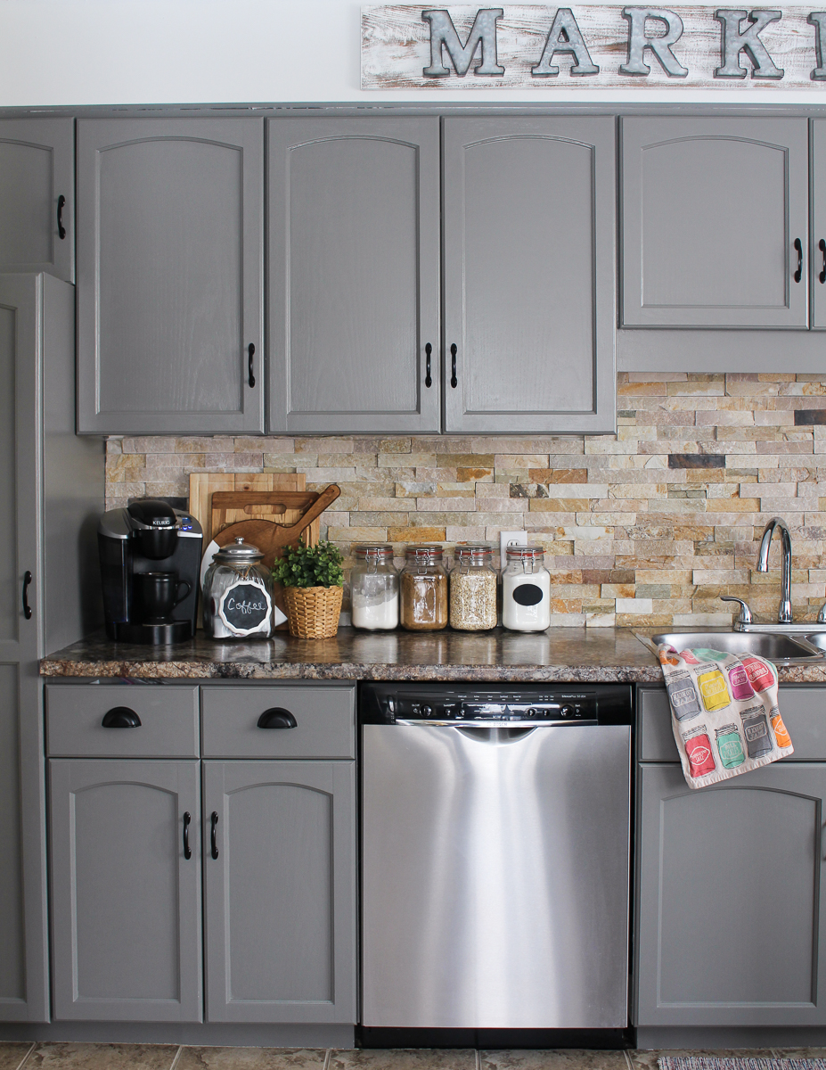 Our Kitchen Cabinet Makeover - Kassandra DeKoning