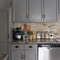 How To Paint Kitchen Cabinets Kassandra DeKoning - Gray paint for kitchen