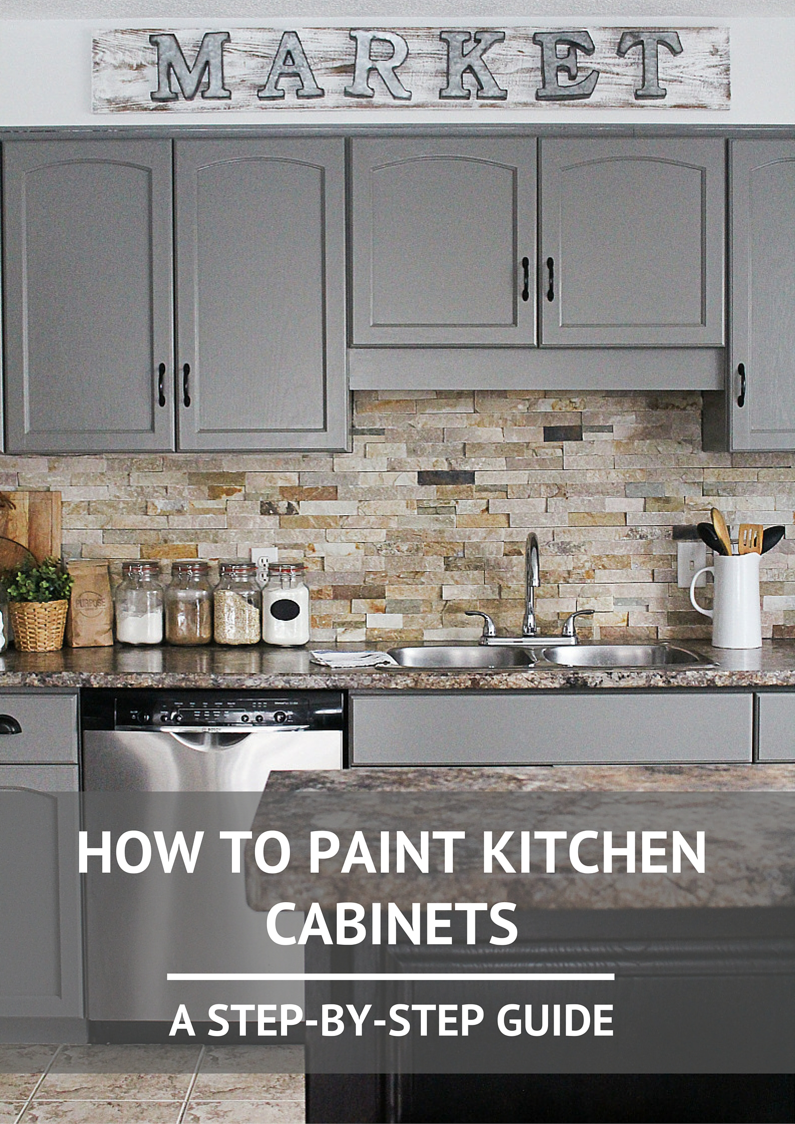 How To Paint Kitchen Cabinets Kassandra DeKoning - Where to buy grey kitchen cabinets