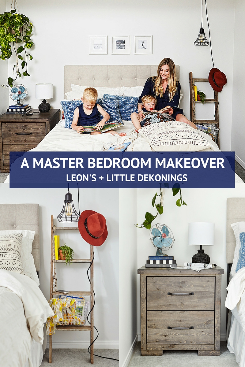 Our master bedroom makeover with leon 39 s kassandra dekoning Master bedroom makeover pinterest