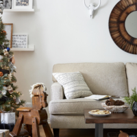 Where the Holidays Really Happen: Urban Country Living Room Makeoever