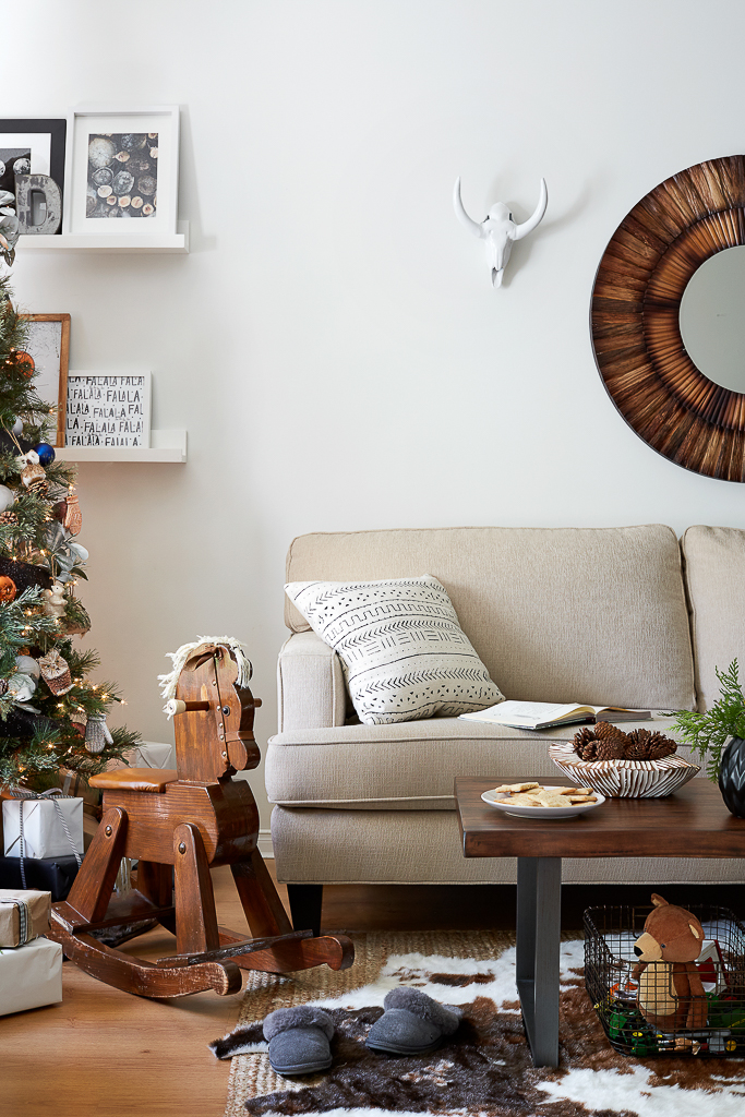 Our Urban Country Christmas Living Room