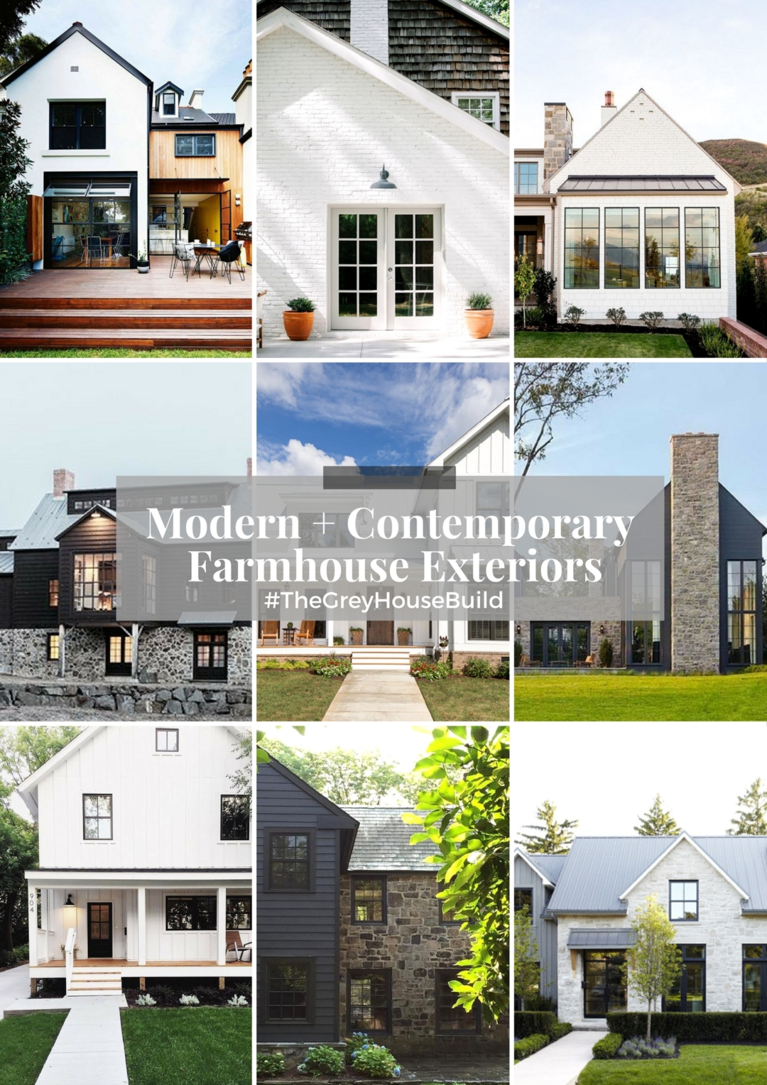 Home Exteriors: Contemporary + Modern Farmhouse Exteriors