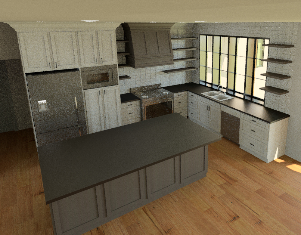 3D Renderings: The Kitchen