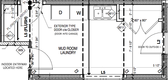 Laundry mudroom floor plans thecarpets co for Mudroom laundry room floor plans