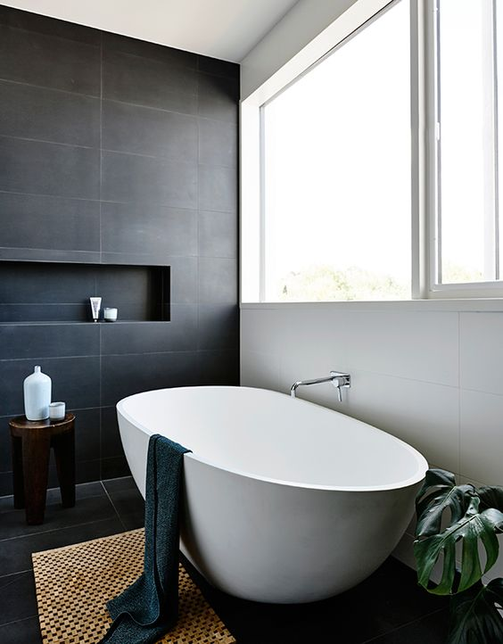 Master Bath Inspiration: The Grey House